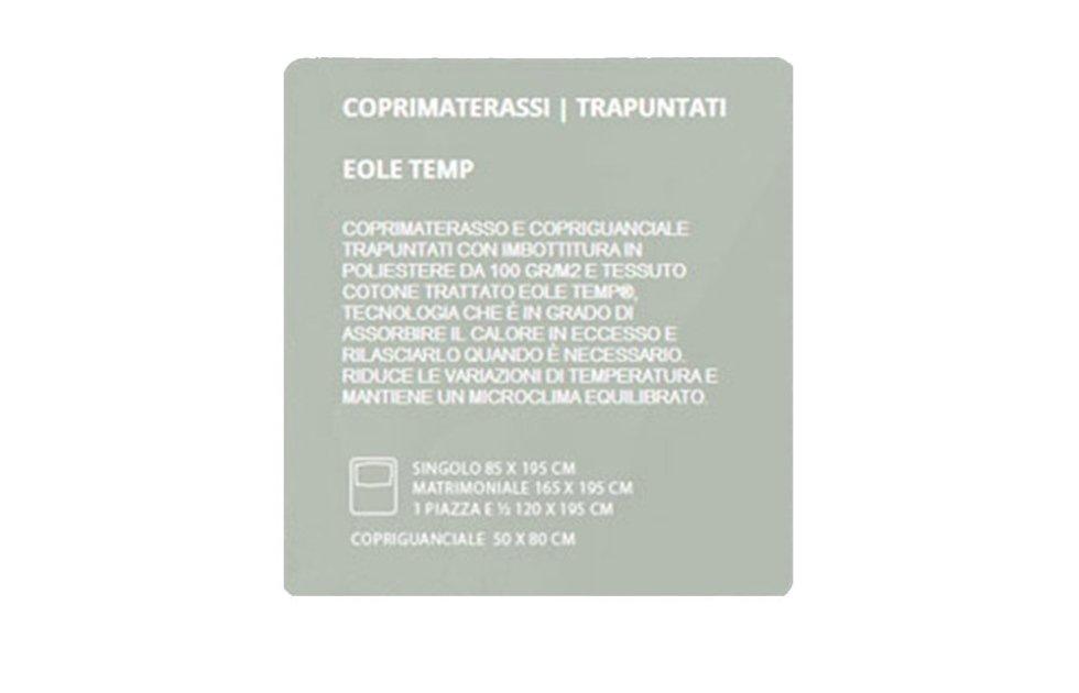 COPRIMATERASSI TRAPUNTATI - EOLE TEMP