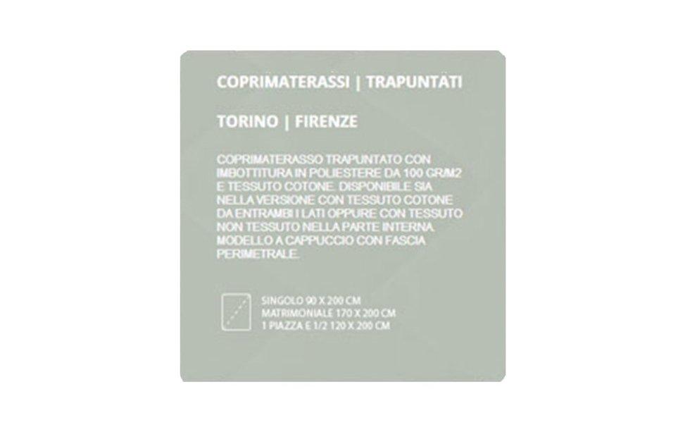 COPRIMATERASSI TRAPUNTATI - TORINO FIRENZE