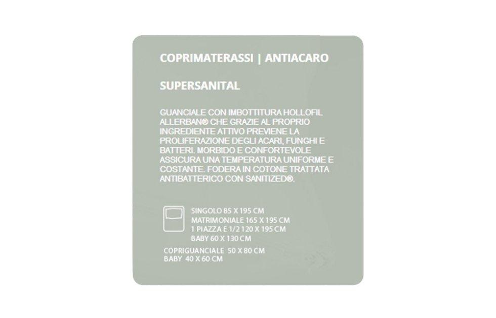 COPRIMATERASSI ANTIACARO - SUPERSANITAL
