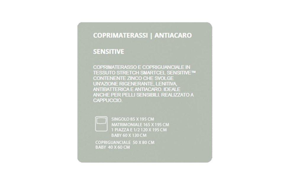 COPRIMATERASSI ANTIACARO - SENSITIVE
