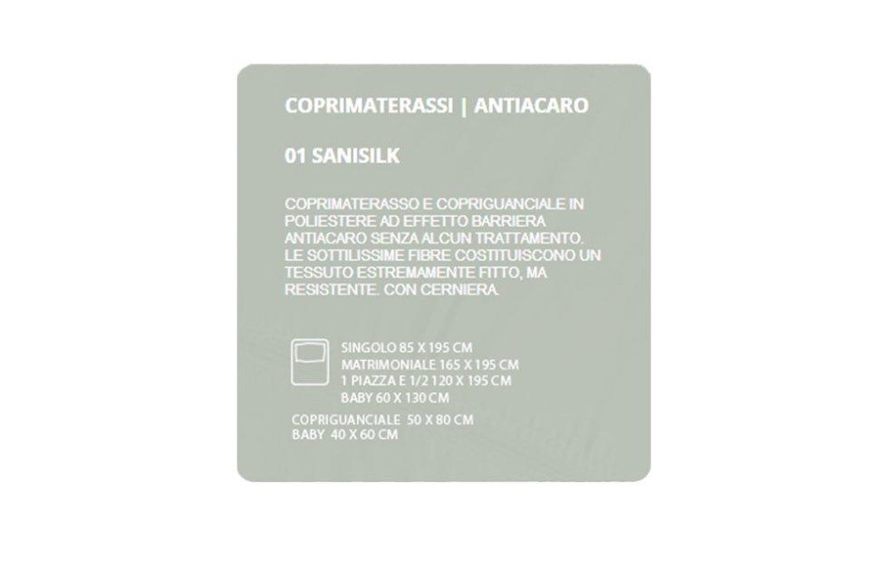 COPRIMATERASSI ANTIACARO - SANISILK