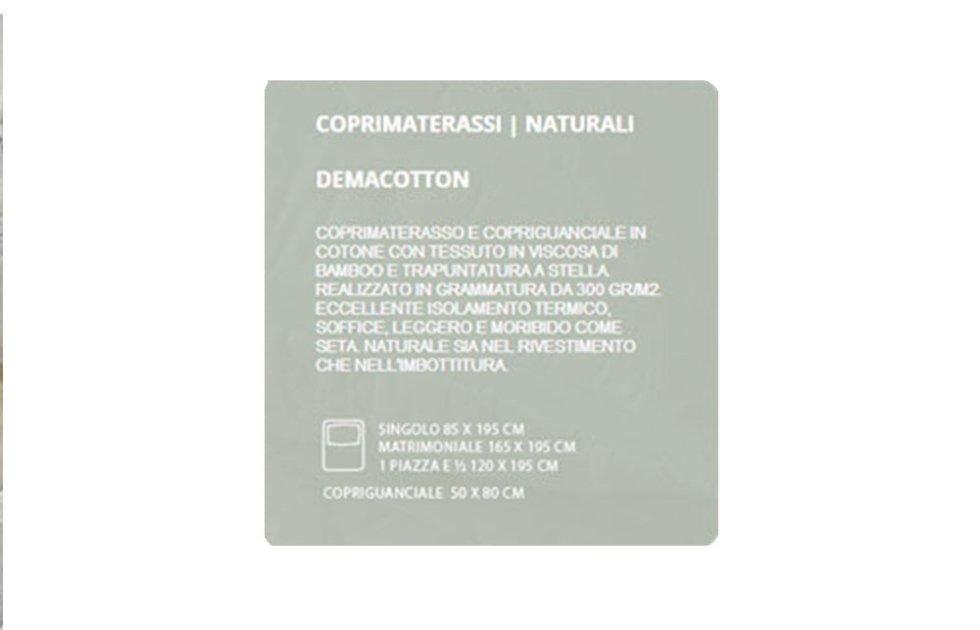 COPRIMATERASSI NATURALI - DEMACOTTON