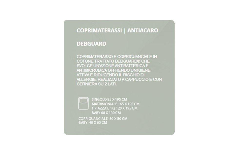 COPRIMATERASSI ANTIACARO - DEBGUARD