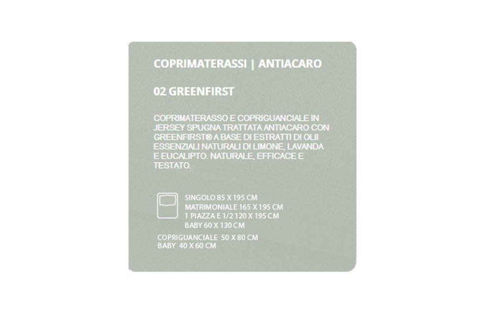 COPRIMATERASSI ANTIACARO - GREENFIRST