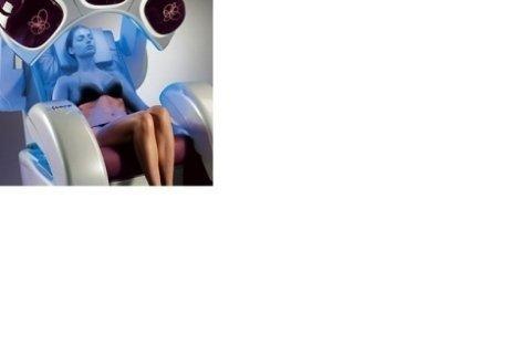 poltrona abbronzante viso, decolletè e mani, con 6 tipologie di massaggi dorsali e massaggio plantare