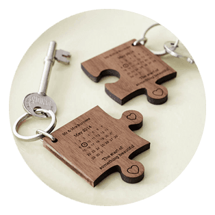 Laser cut keychains