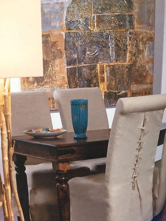 sedie poltrona e tavolo da sala da pranzo