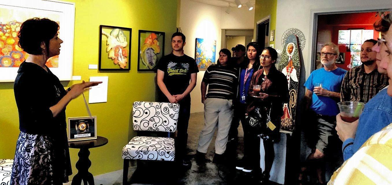 volunteers helping at gallery exhibitions