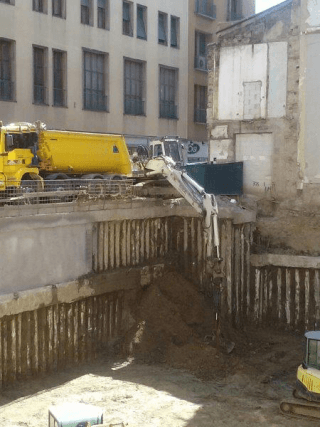 scavi per fondamenta
