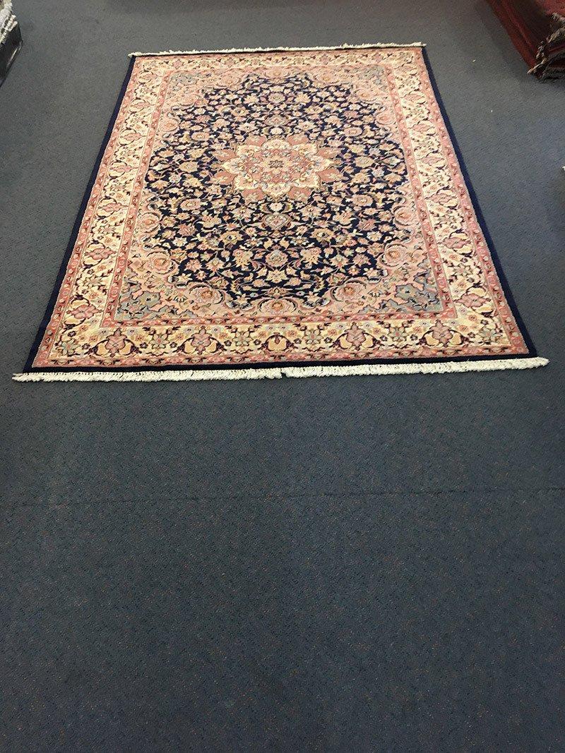 Kashimiri Wool & Silk, Hand-Knotted, rug