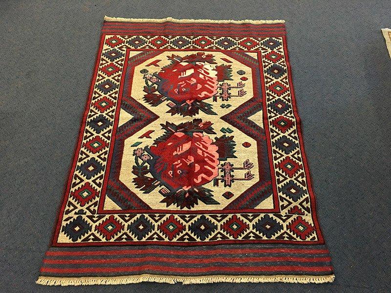 Mashwani, Pure Wool pile, Hand-Knotted rug