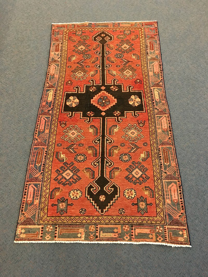 Persian Hamadan, Pure Wool Pile, Hand-Knotted rug