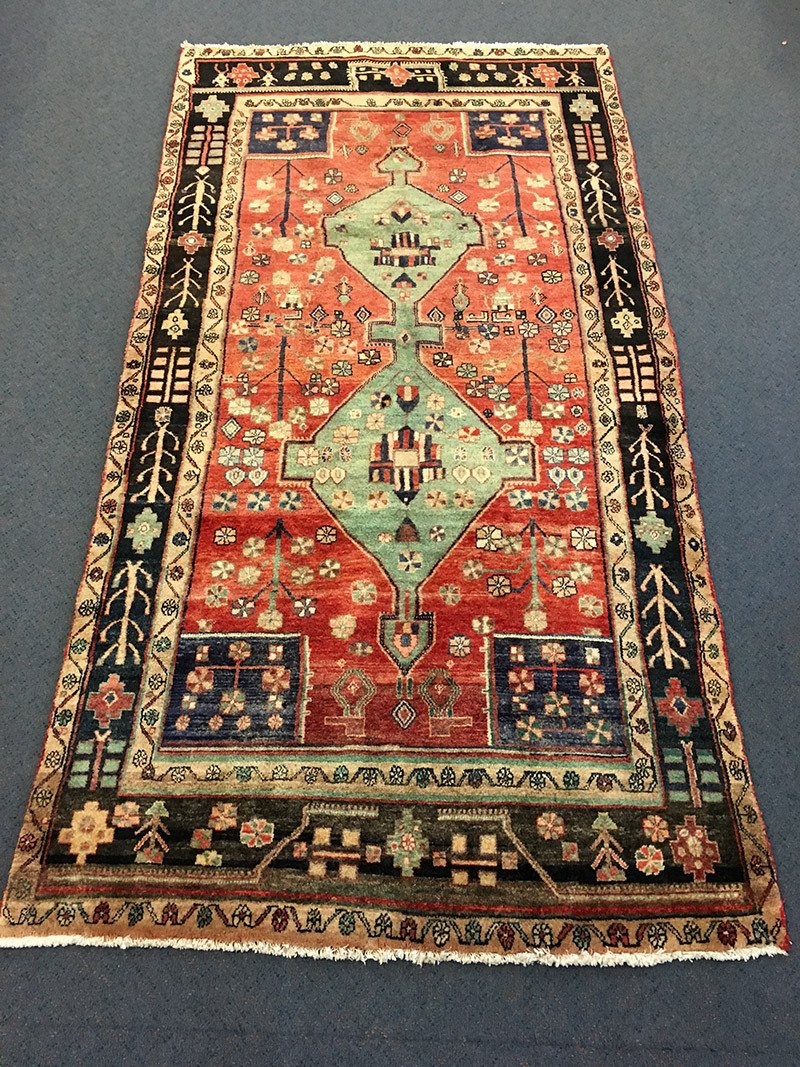 Persian Hamadan, Pure Wool Pile, Hand Knotted rug
