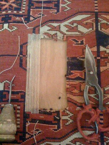 Tools used to prepare handmade carpets