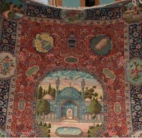 tappeto tabriz con moschea