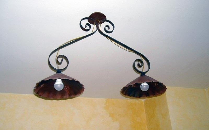 lampadario ferro