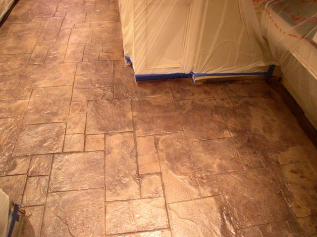 Cool Stamped Concrete Design Ideas for a New York Bar & Grille