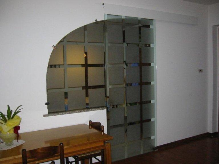 Porte in vetro decorate