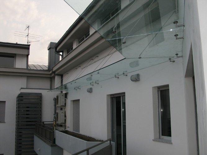 Tettoia in vetro per esterno