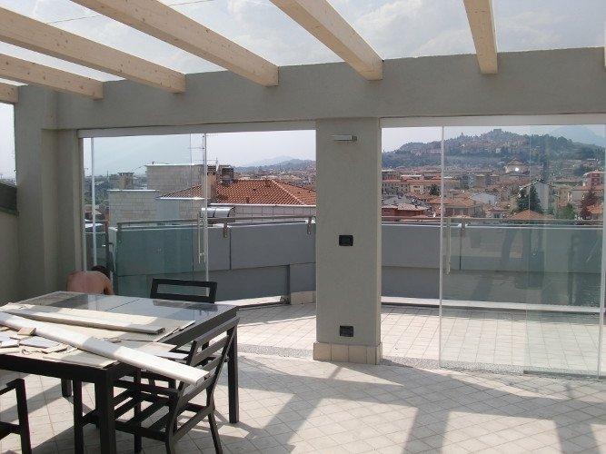 Porte in vetro per terrazzo