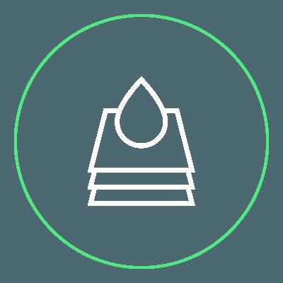 icona fogli con goccia