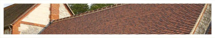 Close up of a domestic roof