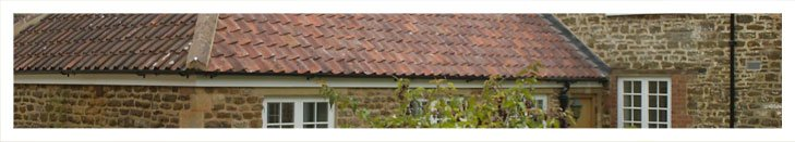 Tiled roof on domestic property