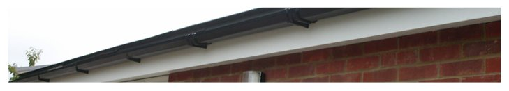 uPVC guttering on a house