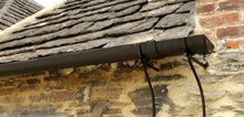 Guttering on listed building