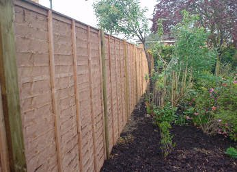 Landscape gardening - Godalming - Roots & Shoots - Our standard panel fencing using 4 inch posts
