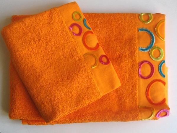 kit asciugamani arancioni