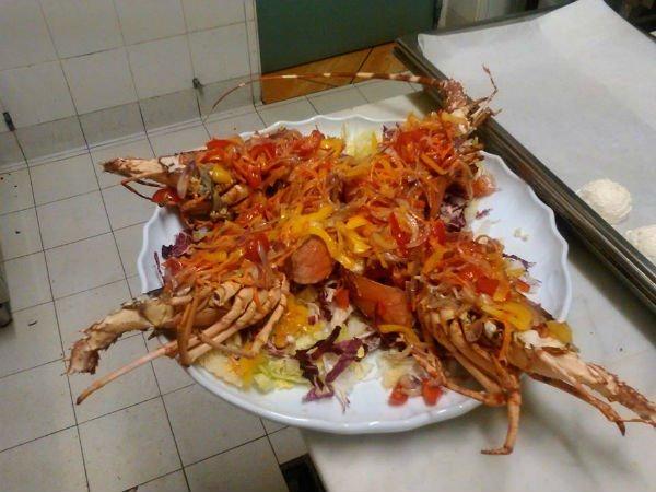 Aragosta con insalata