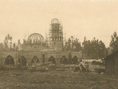 costruzione della moschea di addis abeba