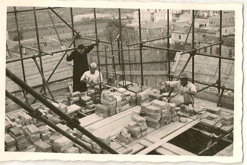 lavori di ricostruzione campanile