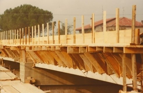 costruzione ponte sul rubicone