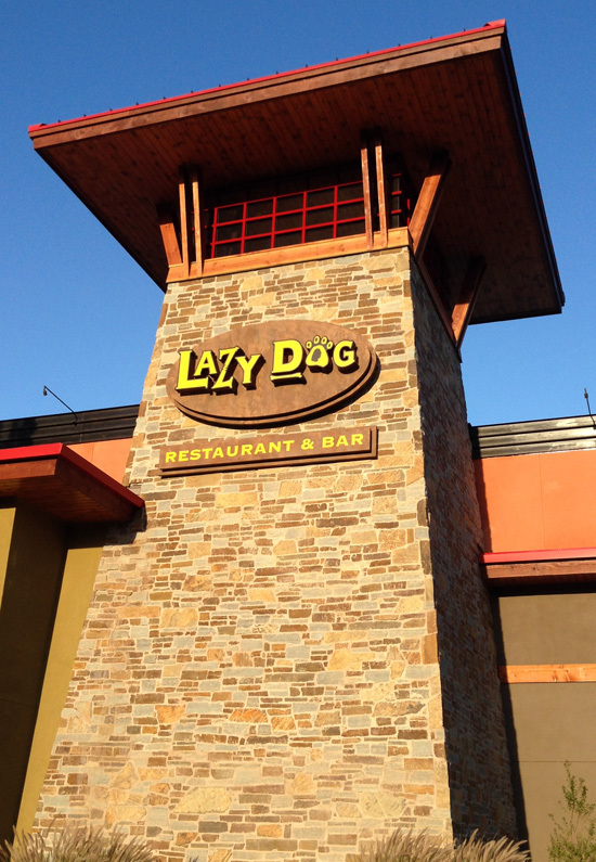 LazyDog Restaurant Lighted Sign Installation - Concord, CA