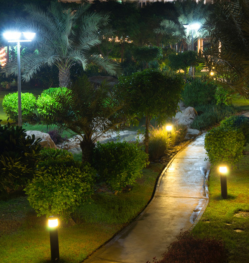 outdoor landscape lighting installation and repairing