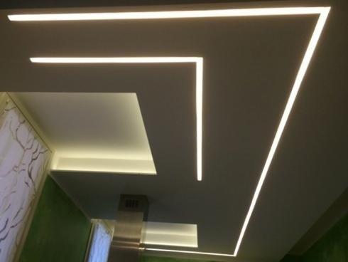 Illuminazione soffitto moderna
