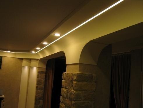 Illuminazione perimetro soffitto