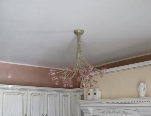 Dettaglio lampada cucina fiori design