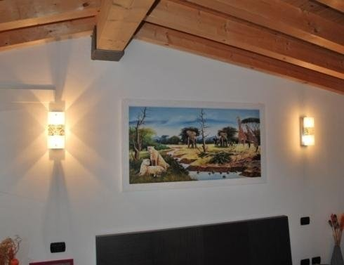 Lampada travi interni casa illuminazione