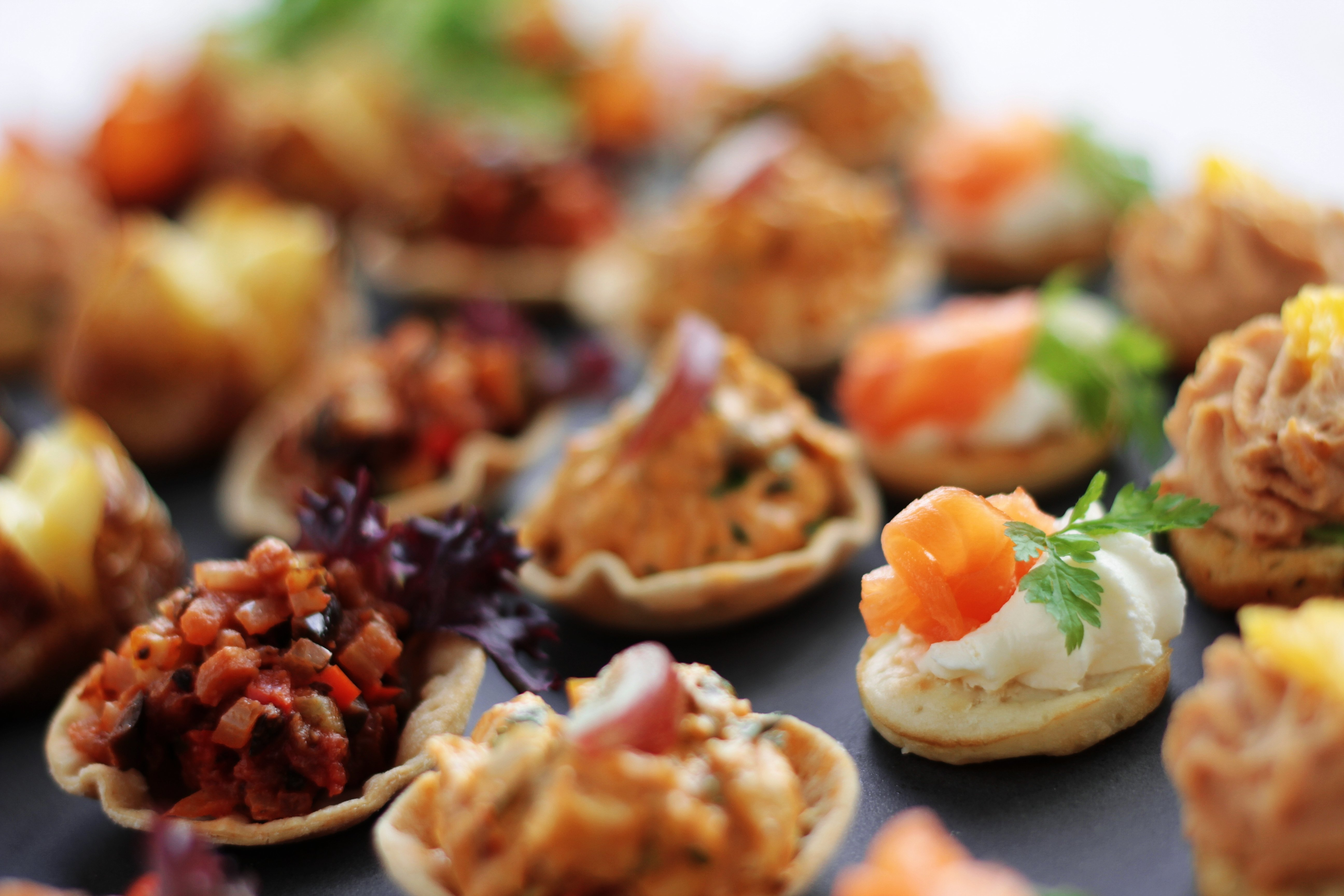variety of canapes