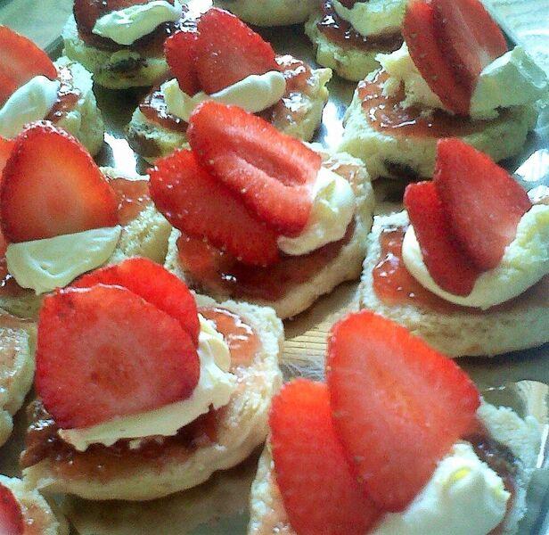 strawberry topping dessert