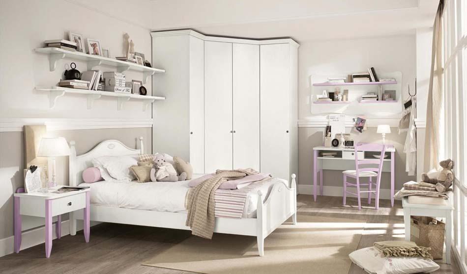 Camerette in legno bianco
