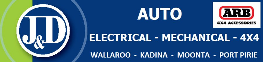 j and d auto electrical logo