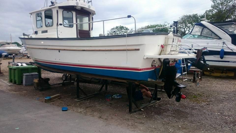 multi-coloured boat