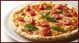 pizza pomodorini freschi e basilico