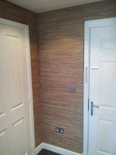 Specialist wallcoverings. (ie real wood.)
