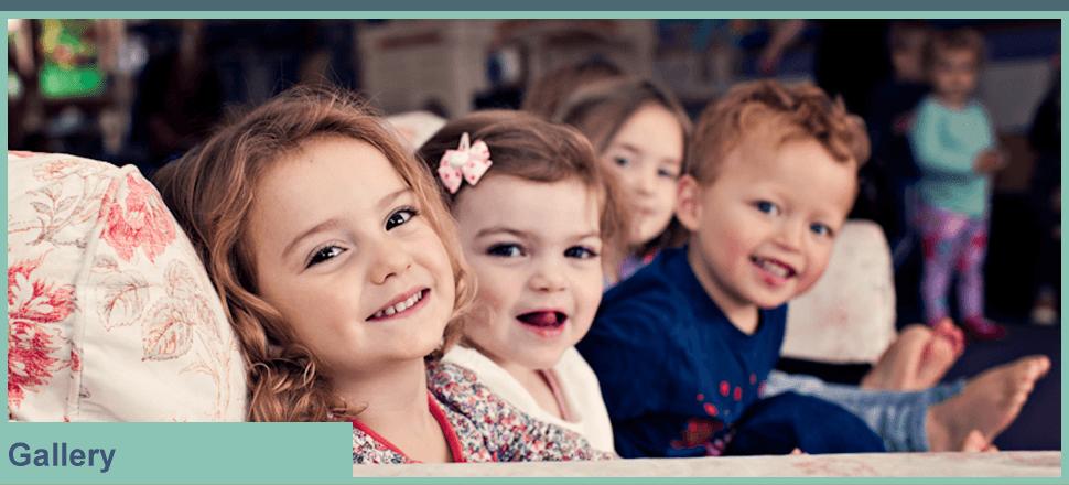 4 smiling children