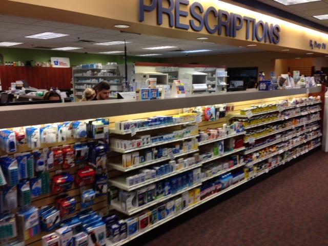 Pick up prescription area of Jeff's Prescription Shop